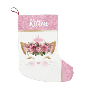 Petite Chaussette De Noël Princesse Kitty Custom Christmas Stocking