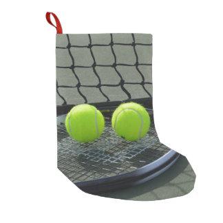 Petite Chaussette De Noël Raquette et balles de tennis de court de tennis