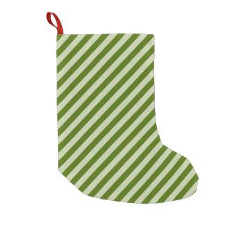 Petite Chaussette De Noël Rayures vertes