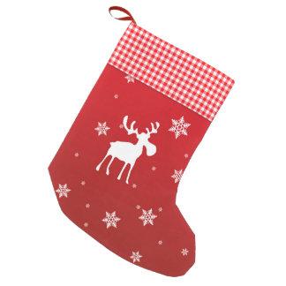Petite Chaussette De Noël Renne de Noël et flocons de neige - bas