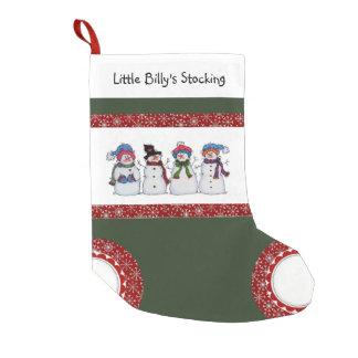 Petite Chaussette De Noël Sammy le bas de bonhomme de neige et de Noël