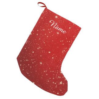 Petite Chaussette De Noël Scintillement rouge de vacances d'étoiles de Noël