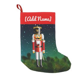Petite Chaussette De Noël Soldat de jouet de casse-noix dans l'uniforme
