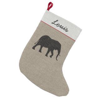 Petite Chaussette De Noël Toile de Faux de la silhouette | d'éléphant