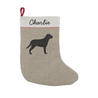 Petite Chaussette De Noël Une plus grande silhouette suisse de chien de