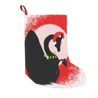 Petite Chaussette De Noël Vacances de lune de dragon (rouges)