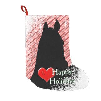 Petite Chaussette De Noël Vacances des chevaux I de coeur (sucre de canne