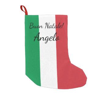 Petite Chaussette De Noël Vacances nommées personnalisées par drapeau