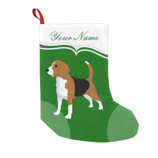 Petite Chaussette De Noël Vert de Noël d'amoureux de les chiens de beagle