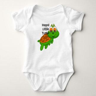 Petite chemise heureuse de bébé de tortue body