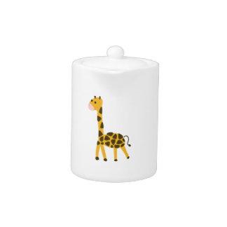 Petite conception jaune mignonne de girafe