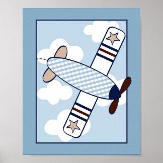 Petite copie d art de mur de crèche d avion d avia affiches