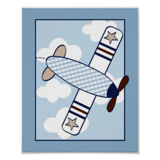 Petite copie d'art de mur de crèche d'avion d'avia poster