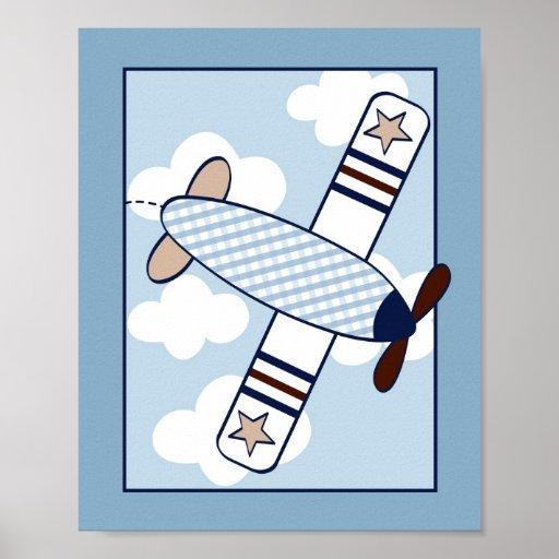 Petite copie d'art de mur de crèche d'avion d'avia affiches