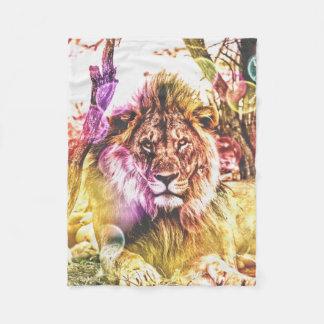 petite couverture de lion d'ouatine