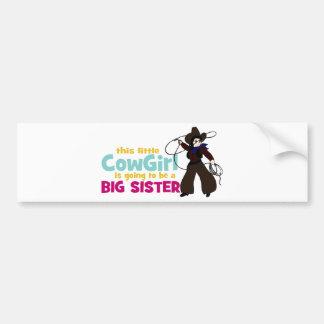 Petite cow-girl, grande soeur autocollant de voiture