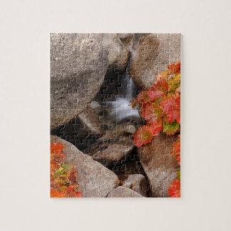 Petite crique en automne, la Californie Puzzle