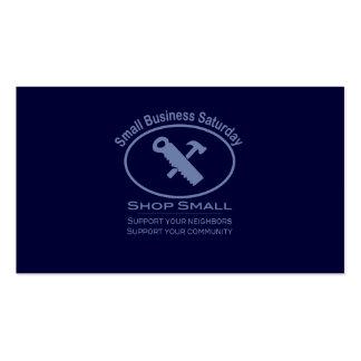 Petite entreprise samedi - bleu de matériel modèles de cartes de visite