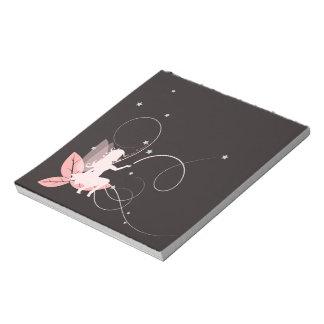 Petite fée rose et arabesques blocs notes