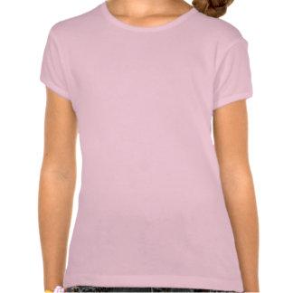 Petite fille dans le T-shirt de Paris pour une