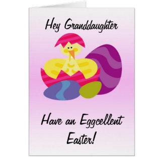 Petite-fille de carte de Pâques