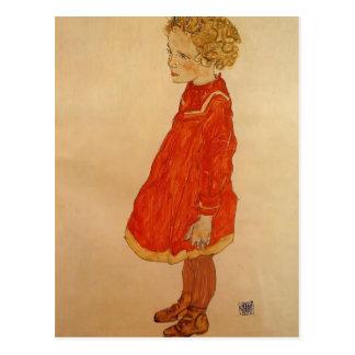 Petite fille d'Egon Schiele- avec les cheveux blon Cartes Postales