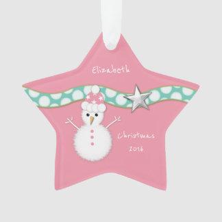 Petite-fille d'étoile de rose de bonhomme de neige
