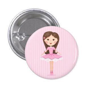 Petite fille mignonne de bande dessinée de balleri badge rond 2,50 cm