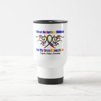 Petite-fille tribale de ruban d'autisme mugs à café