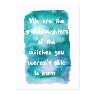 Petite-filles de carte postale de sorcières