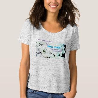 Petite fleur - le T-shirt raglan des femmes