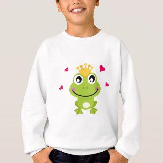 Petite grenouille verte de ressort dans l'amour sweatshirt