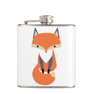 Petite illustration mignonne de Fox rouge Flasques