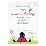 petite invitation d'anniversaire de ressort de la carton d'invitation  12,7 cm x 17,78 cm