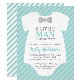 Petite invitation de baby shower de garçon d'homme