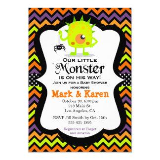 Petite invitation de baby shower de Halloween de