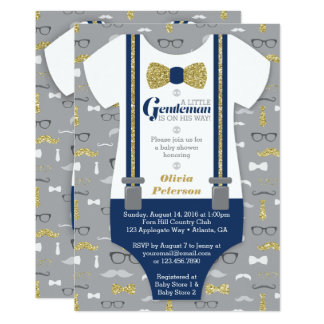 Petite invitation de baby shower d'homme, parties