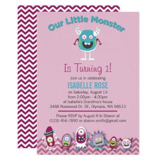 Petite invitation de fête d'anniversaire de fille