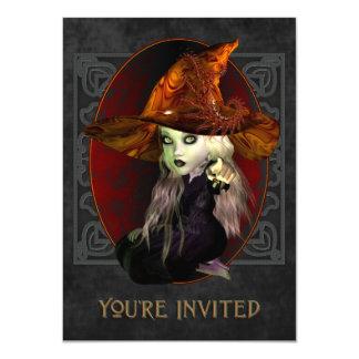Petite invitation effrayante de partie de