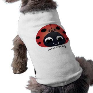 Petite Madame douce Ladybug Pet Clothing T-shirt Pour Chien