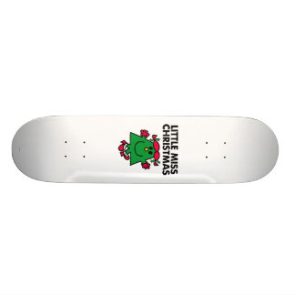 Petite Mlle Christmas Smile Skateboards Personnalisés