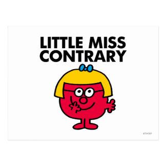 Petite Mlle Contrary Carte Postale