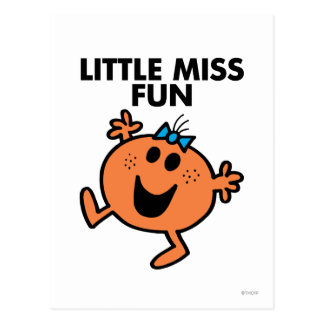 Petite Mlle Fun Waving Joyously Carte Postale