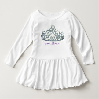 Petite Mlle Queen Robe Manches Longues