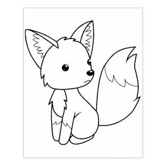 Petite page mignonne de coloration de Fox