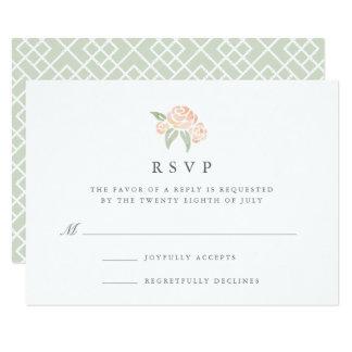 Petite pêche de la carte   du bouquet RSVP Carton D'invitation 8,89 Cm X 12,70 Cm