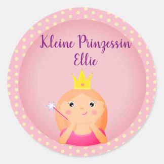 """Petite princesse"" allemande autocollant avec la"