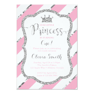 Petite princesse Birthday Invitation Pink et