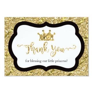 Petite princesse carte de remerciements, carton d'invitation 8,89 cm x 12,70 cm