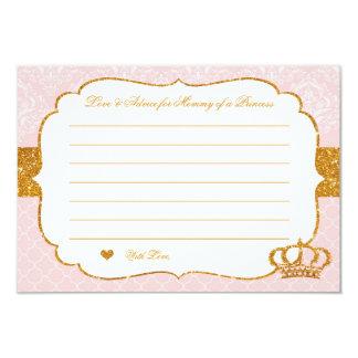 Petite princesse royale Pink et carte de conseil
